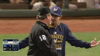 MIL@SF: Counsell is ejected after a review in the 9th