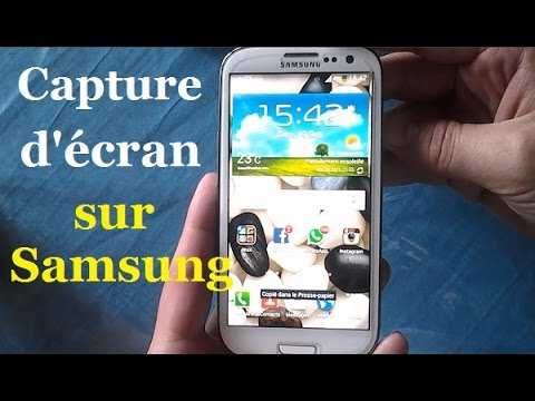 Comment Faire Une Capture D Ecran Sur Samsung Galaxy Android Youtube