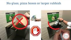 Waste disposal in apartment buildings.