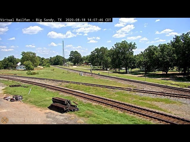 Big Sandy, Texas USA - Virtual Railfan LIVE