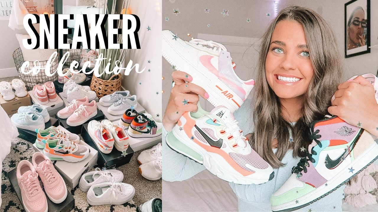 my sneaker collection 2020!! | nike, adidas, jordan's