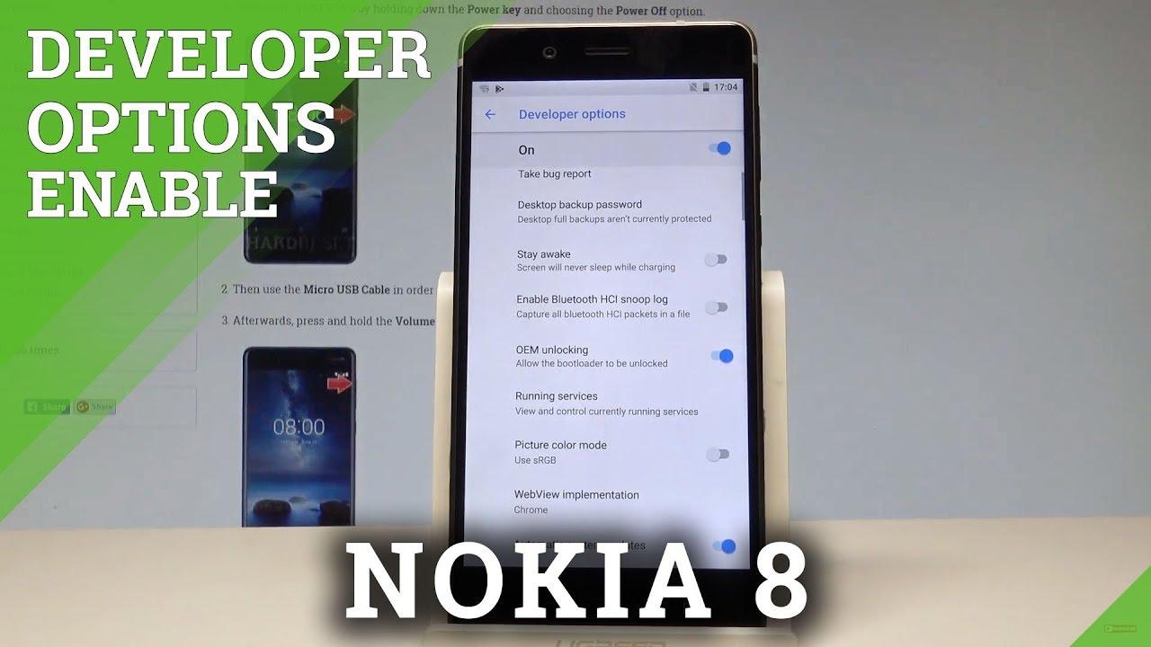 How to Allow Developer Options in NOKIA 8 - OEM Unlock  HardReset info