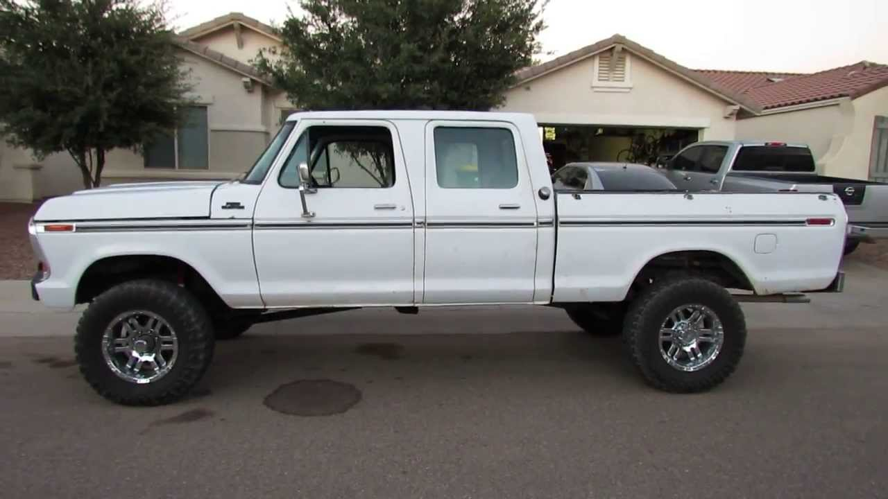 1977 ford f250 crew cab 4x4 sold youtube