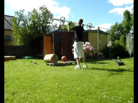 Crossfit Home Training On Outdoor Gym - YouTube
