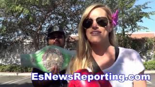 Actress Katie Glover Huge Pacquiao Fan - EsNews boxing