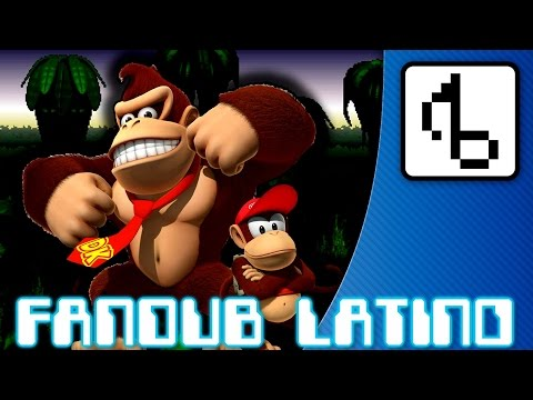 Donkey Kong Country WITH LYRICS -brentalfloss- Fandub Latino by Longcat
