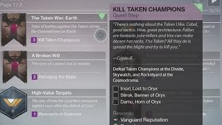 Destiny The Taken War: Earth Walkthrough How to Guide Quest The Taken King