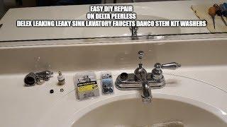 Easy Diy Faucet Repair On Delta Peerless Delex Leaking Leaky Sink Lavatory Danco Stem Kit & Washers.