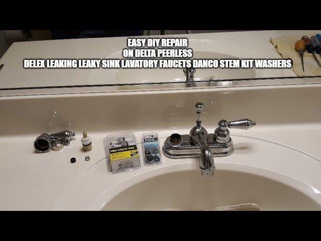 Easy Diy Faucet Repair On Delta Peerless Delex Leaking Leaky Sink Lavatory Danco Stem Kit Washers Youtube