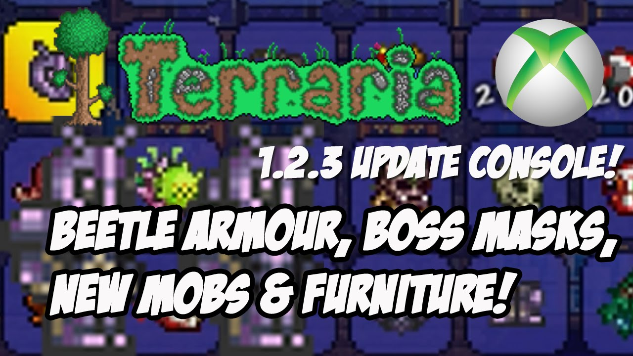 Terraria 1 2 3 Console Update: Beetle Armour, Boss Masks, NPC & More [Xbox,  PS, Mobile]