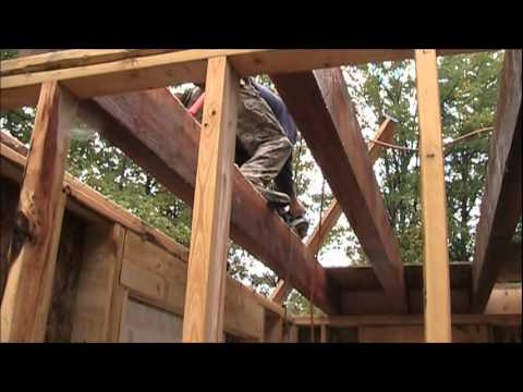 Cabin fever building a cabin on a mountain side youtube for Building a mountain cabin