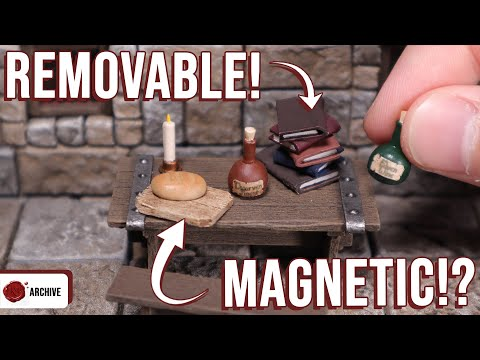 Making D&D Furniture With MAGNETIC Accessories   Tavern Terrain For DnD!