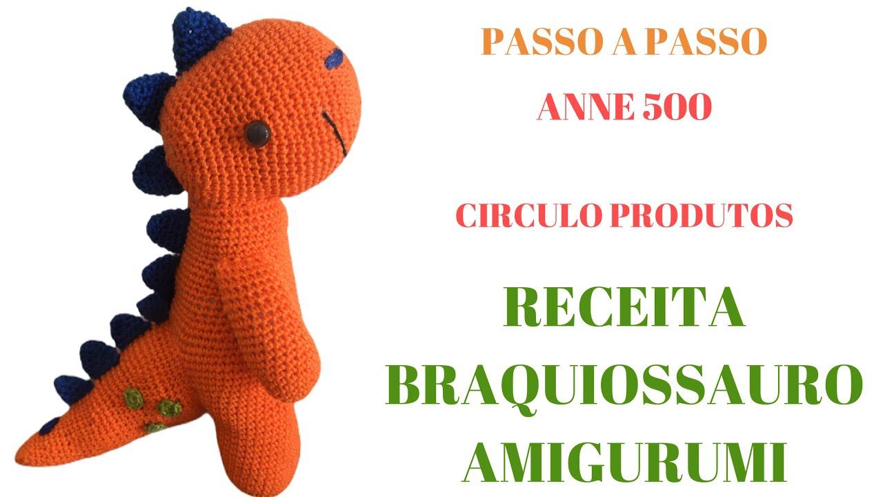 Dinossauro amigurumi passo a passo.... - Artesanato Brasil | Facebook | 720x1280