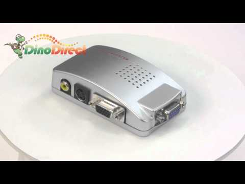 PC Laptop Universal VGA to TV Signal Adapter Converter Box QS-403  from Dinodirect.com