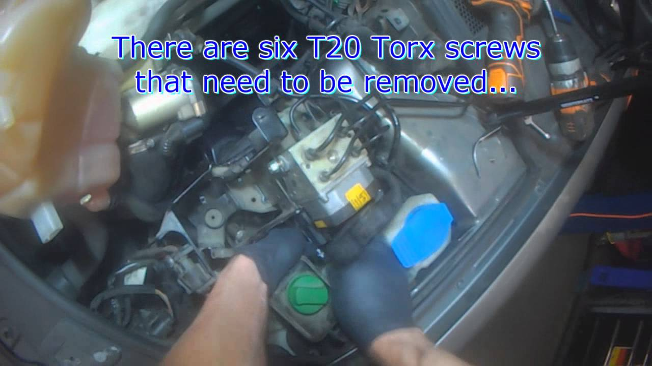 vw  abs module removal youtube
