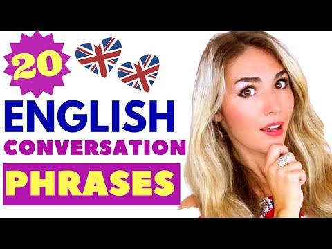 20 ENGLISH CONVERSATION phrases