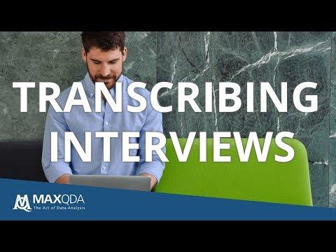 Transcription of Audio and Video in MAXQDA
