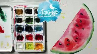 Как нарисовать арбуз акварелью. 365 арт дней. День 15