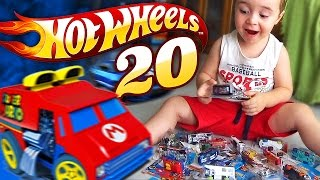 HOT WHEELS COLEÇÃO DE 20 CARROS DE BRINQUEDO -  Hot Wheels Collection 20 Toy Cars