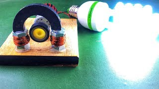 New technology free energy electricity running by DC motor with magnet and copper wire