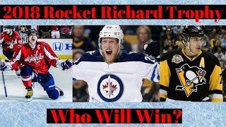 Top 10 NHL Goal Scorers 2018 - Who Wins Rocket Richard Trophy?