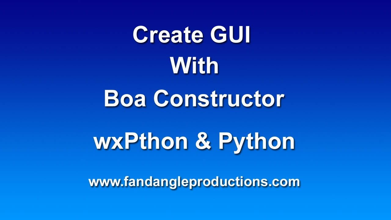 Boa Constructor Tutorial Download