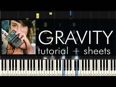 Gravity sara bareilles piano tutorial.