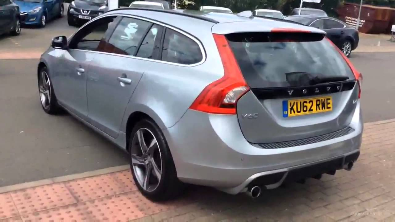 volvo v60 d4 r design aluminium silver 2012 youtube. Black Bedroom Furniture Sets. Home Design Ideas