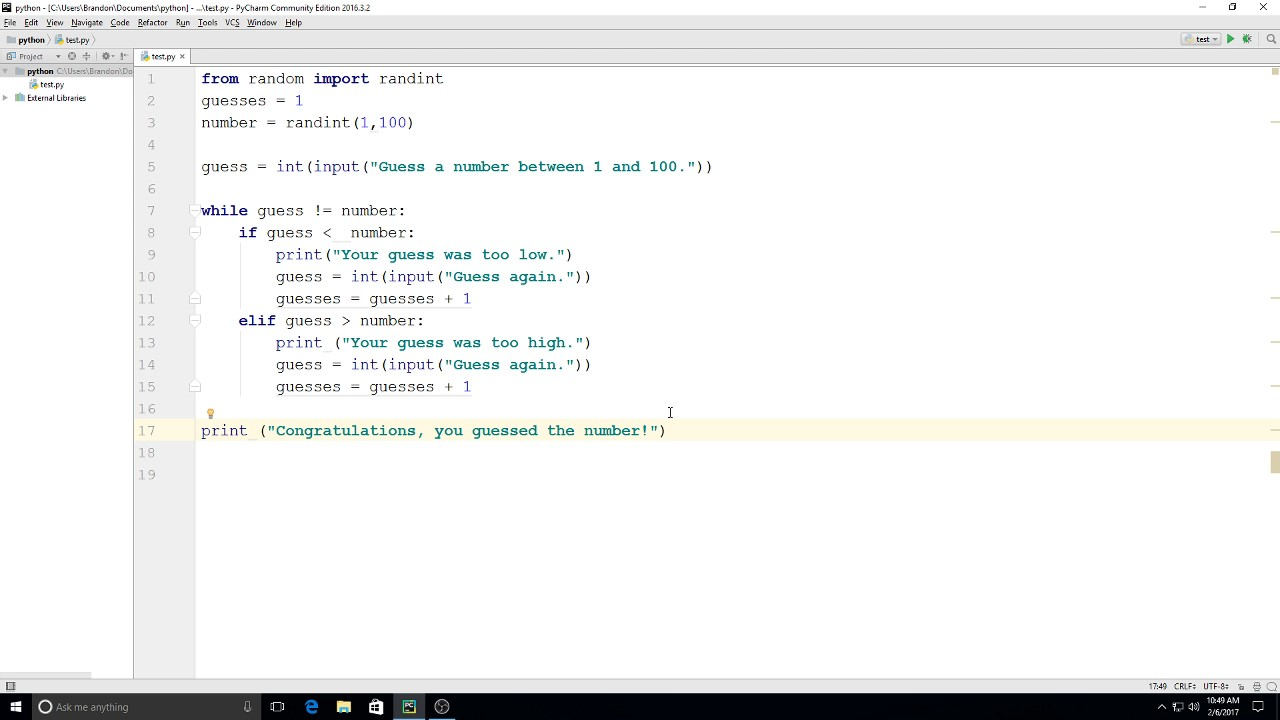 Simple Python Number Guessing Game : 11 Steps - Instructables