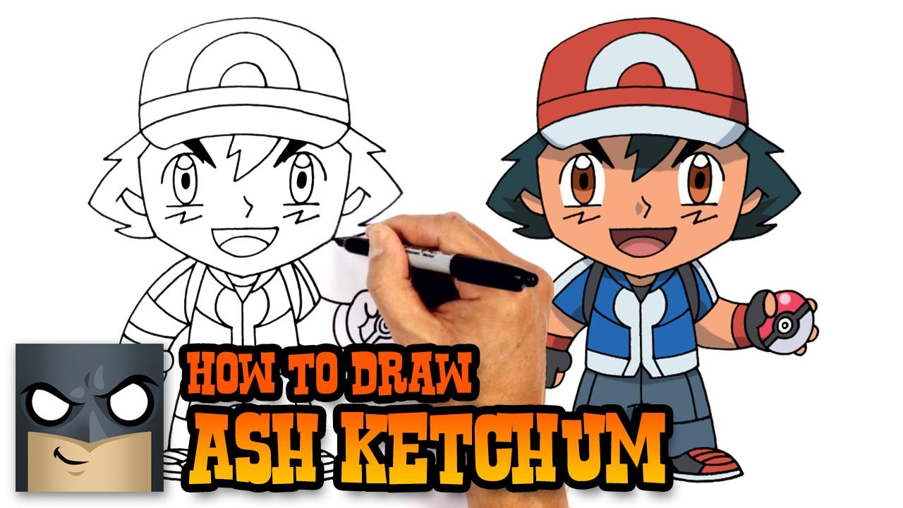 How To Draw Ash Ketchum Pokemon Youtube