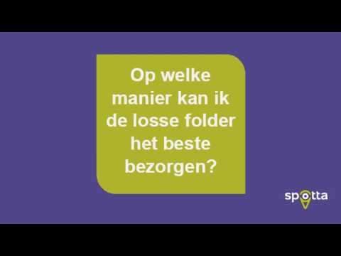 Spotta Vlog Bezorging Donorregistratie Folder
