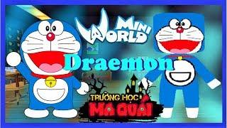 TRƯỜNG HỌC MA QUÁI:-tập 17- 1 ngày làm Doraemon | Thử thách sử dụng bửu bối thần kì trong mini world