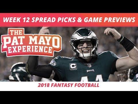 2018 Fantasy Football — Week 12 Spread Picks, NFL Game Previews, Best Holiday Rankings