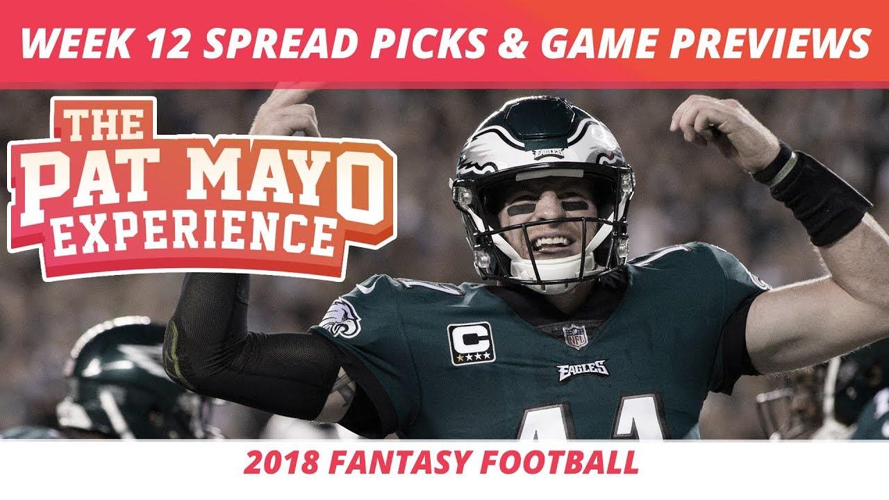 2018 Fantasy Football Week 12 Spread Picks Nfl Game Previews