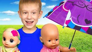 Дождик Дождик уходи - Детская песенка от Тимы и Еси