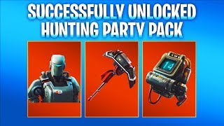 NEW HUNTING PARTY SKIN & PICKAXE GAMEPLAY! Fortnite A.I.M. SKIN & E.L.I.M. Backbling Challenge Guide