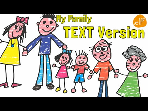 Family Song for Kids with Lyrics - My Family And Me By ELF Learning