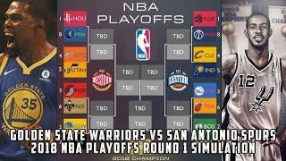 Golden State Warriors vs San Antonio Spurs! 2018 NBA Playoffs Round 1 Simulation