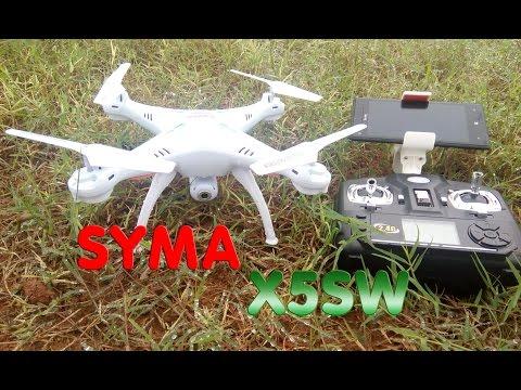 [Unboxing - TEST] Syma X5SW-1 RTF RC Quadcopter, Camera WIFI FPV Mp3