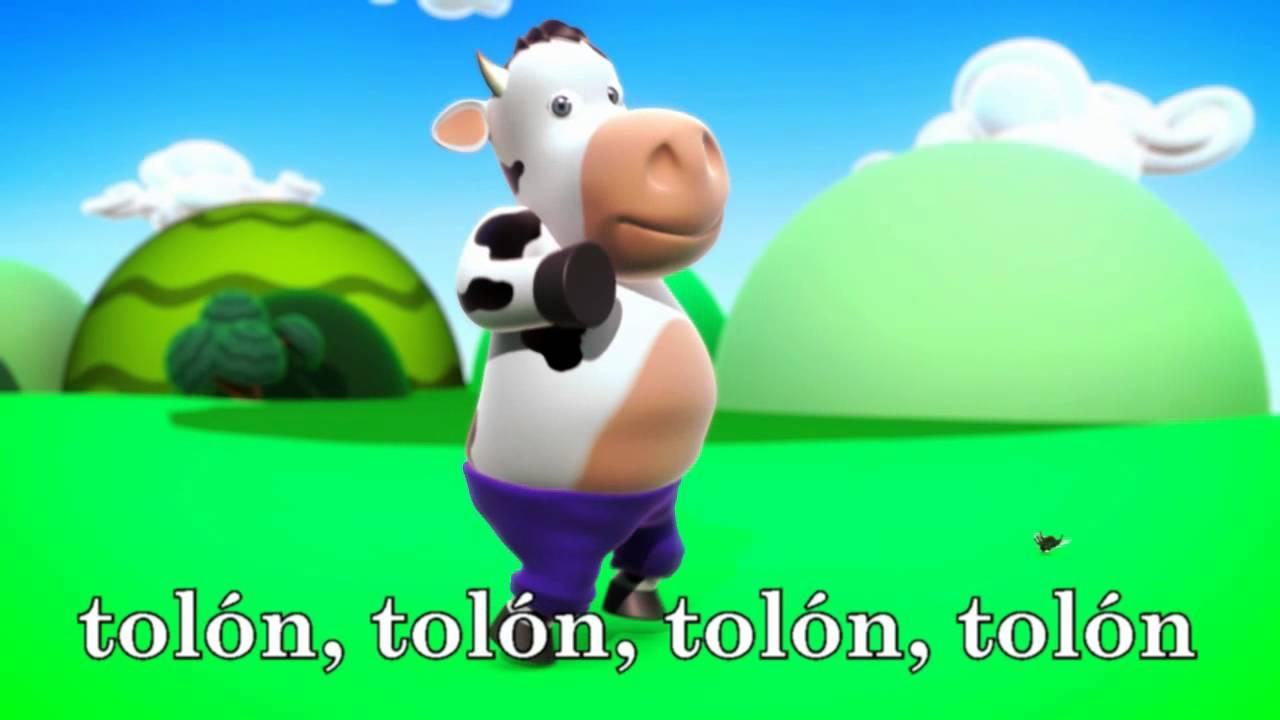 La Vaca Lechera Karaoke Con Letra En Español Canciones Infantiles La Vaca Lechera Youtube