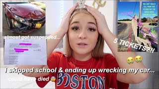 i skipped school & wrecked my car... STORYTIME ft. stunning lens