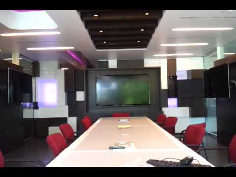 High Tech Conference Room With Crestron Motorized Led Tv S