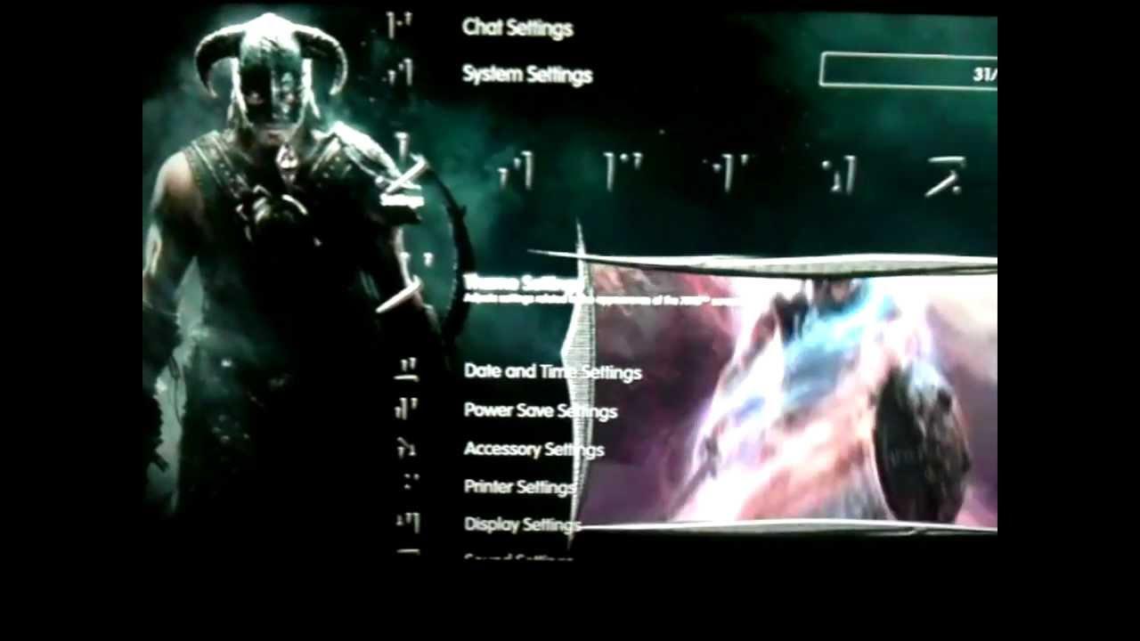 Skyrim Animated Ps3 Theme Youtube