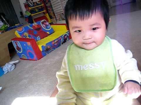 anson n ryan eating baby biscus