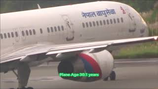 30 Years Old Active Boeing 757 of Nepal 9N-ACB Gandaki Takeoff from Tribhuvan International Airport