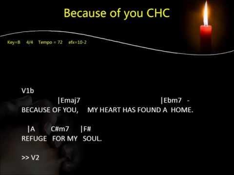 Because of you Karaoke - City Harvest Church (CHC)