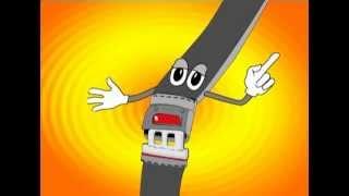 שירי ילדים - חגורת בטיחות - קליפ אנימציה