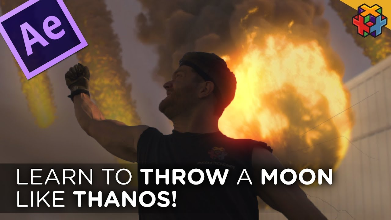 Throw a Moon like Thanos in After Effects! - Video