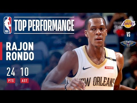 Rajon Rondo Scores Double-Double | 24 Points and 10 Assists