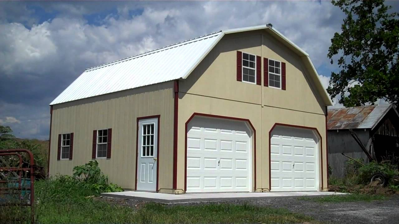 24x24 2 Story Barn Garage - YouTube